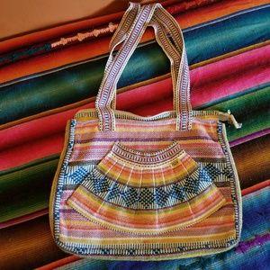 🌈 Vintage Rainbow Mexico Tote